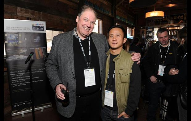 Adrian Wootton of the BFC with Lilting director Hong Khaou